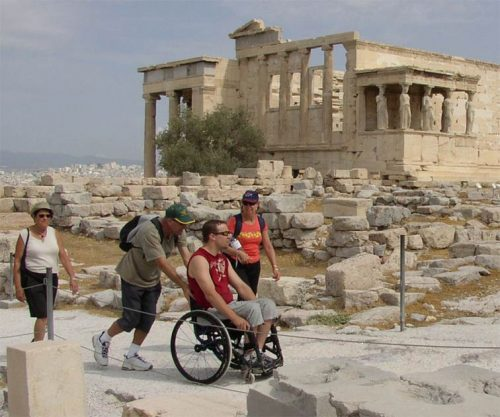 Visit to Acropolis on a Wheel chair!